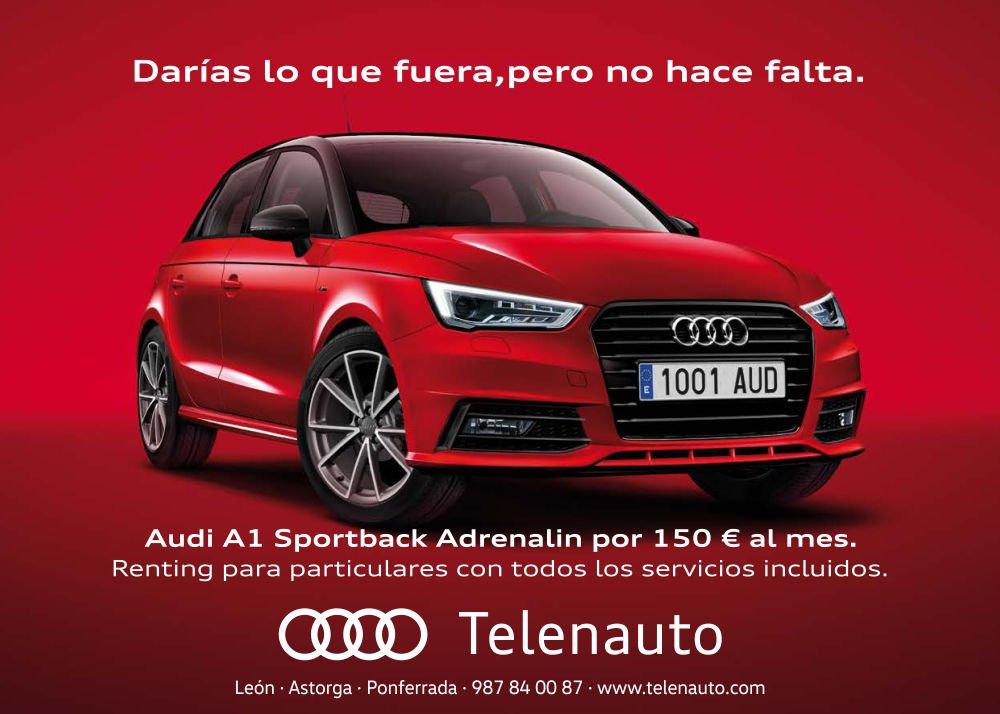 Audi A1 Sportback adrenalin, a tu alcance por 150 euros al mes
