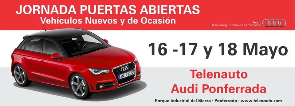 Compra tu Audi en León, Jornada de Puertas Abiertas Telenauto Audi Ponferrada