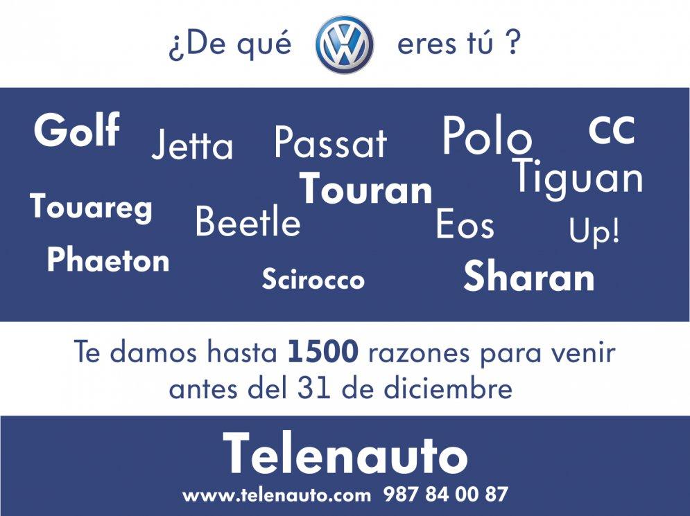 ¿ De qué volkswagen eres tú ?    Polo, Golf, Passat, Tiguan... hasta 1500 euros de descuento.