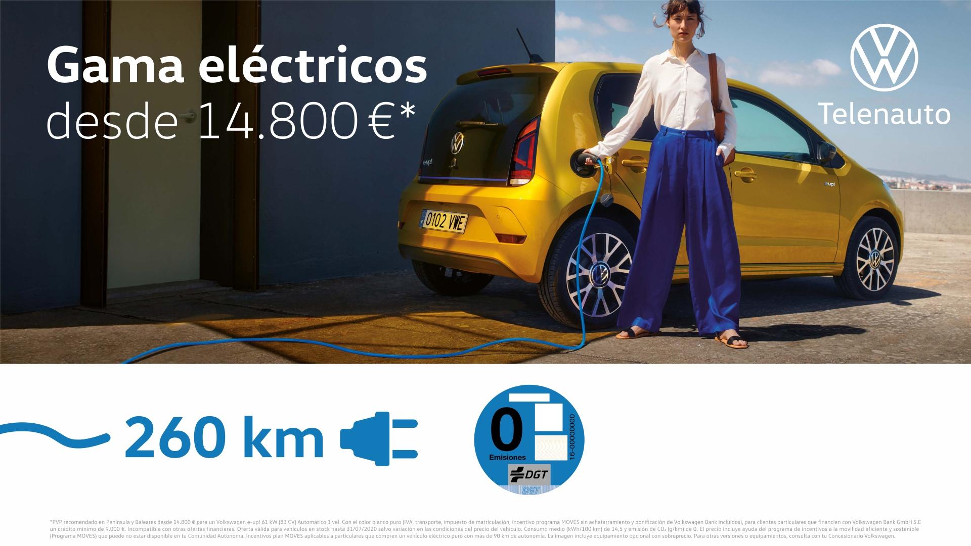Gama Eléctricos Volkswagen desde 14.800 €