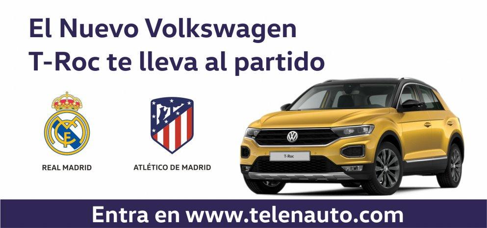 El Nuevo T-Roc te lleva a ver el Real Madrid - Atlético de Madrid