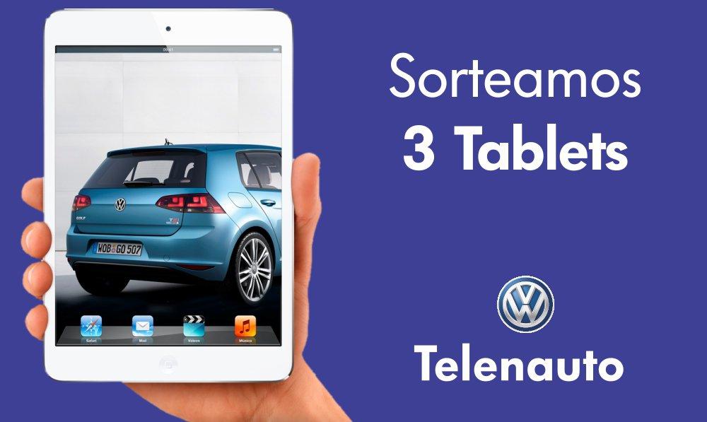 www.telenauto.com sortea 3 Tablets.