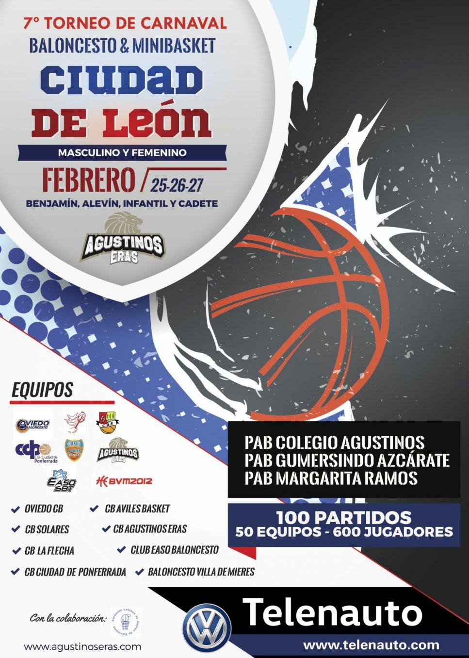 Presentación en Telenauto León del 7º Torneo Ciudad de León Agustinos Eras. Baloncesto & Minibasket. Carnaval 2017