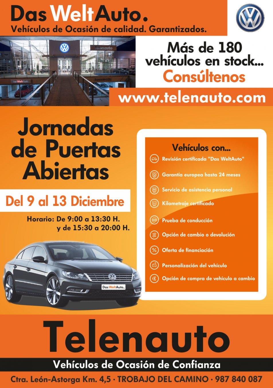 Compra tu coche en las mejores condiciones del mercado. Jornadas de Puertas Abiertas del 9 al 13 de diciembre
