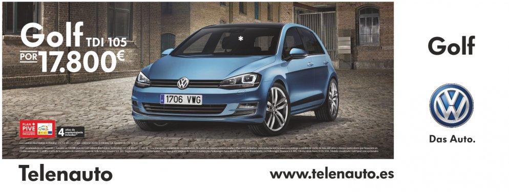 Compra tu volkswagen Golf TDI 105 CV por 17.800 euros