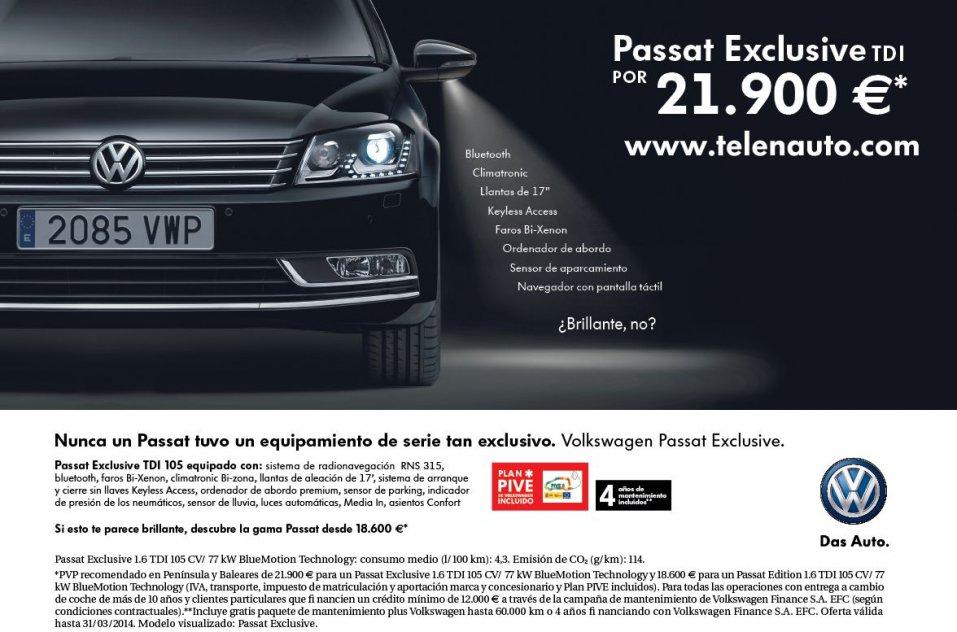 ¿A qué esperas para comprar un Volkswagen Passat?
